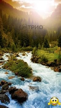 """Картина обогреватель """"Горная река"""" - фото 5398"""