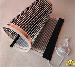 Электрический коврик-сушилка 50х25 (инфракрасная нагревательная пленка в сборе, обогрев цыплят, кроликов) 25Вт - фото 5421