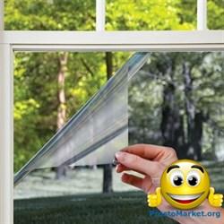 Зеркальная солнцезащитная пленка для окон (размер 0,96х5,5 метров) с затемнением до 85% - фото 5839