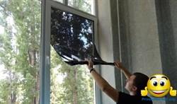 Солнцезащитная тонировочная пленка для окон с зеркальным эффектом (размер 0,7х5,4 метра), затемнением до 70%, многоразовая Original - фото 6196