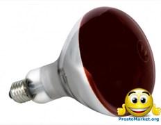 Лампа инфракрасная для обогрева птиц и животных Flash 150W E27 220V
