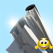 Зеркальная солнцезащитная пленка для окон (размер 0,96х5,5 метров) с затемнением до 85%